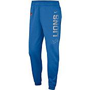 Nike Men's Detroit Lions Sideline Therma-FIT Performance Blue Pants