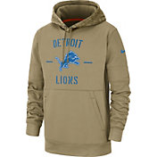 Nike Men's Salute to Service Detroit Lions Therma-FIT Beige Camo Hoodie