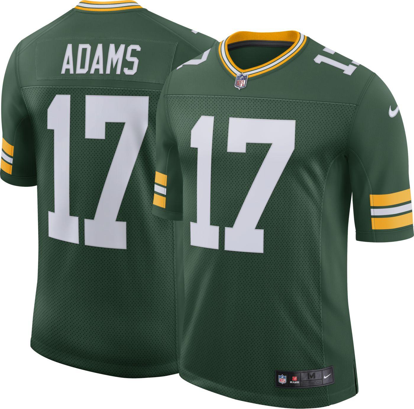 Nike Men's 100th Home Limited Jersey Green Bay Packers Davante Adams #17