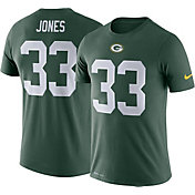 Nike Men's Green Bay Packers Aaron Jones #33 Logo Green T-Shirt