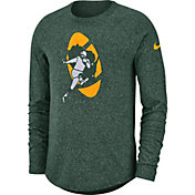 Nike Men's Green Bay Packers Marled Historic Performance Green Long Sleeve Shirt