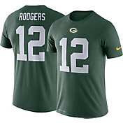 Nike Men's Green Bay Packers Aaron Rodgers #12 Logo Green T-Shirt