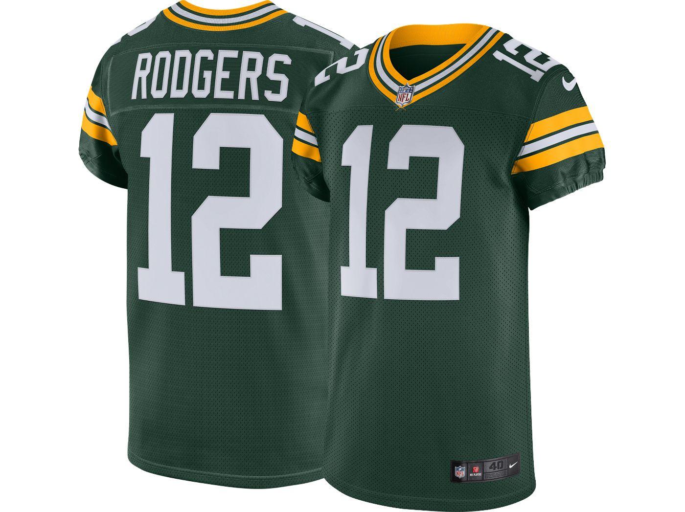 Nike Men's Home Elite Jersey Green Bay Packers Aaron Rodgers #12