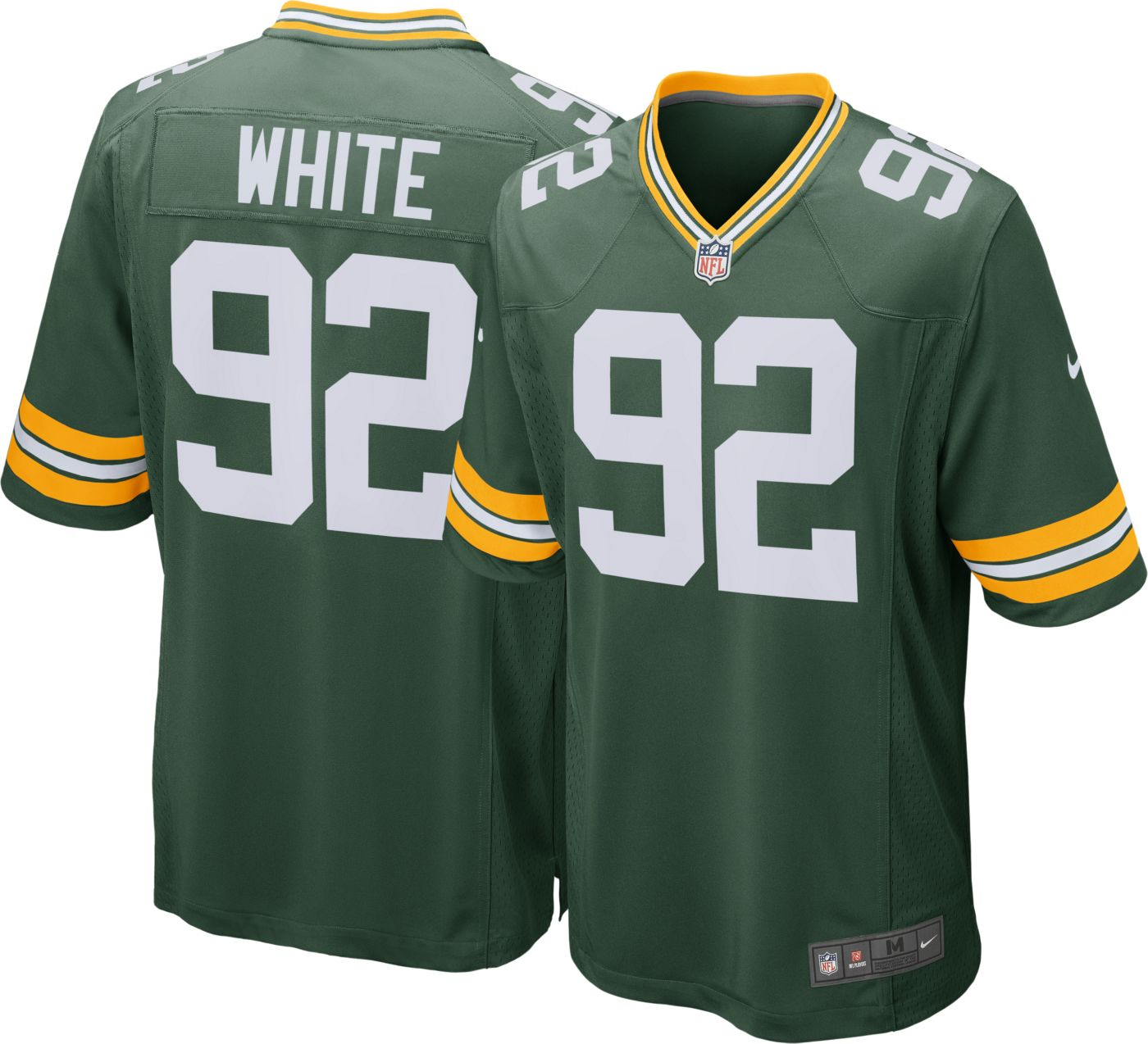 Nike Men's Home Game Jersey Green Bay Packers Reggie White #92