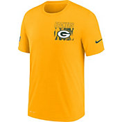 Nike Men's Green Bay Packers Sideline Dri-FIT Cotton Facility Gold T-Shirt
