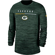 Nike Men's Green Bay Packers Sideline Legend Velocity Green Long Sleeve Shirt