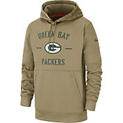 Nike Men's Salute to Service Green Bay Packers Therma-FIT Beige Hoodie