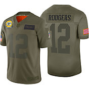 Nike Men's Salute to Service Green Bay Packers Aaron Rodgers #12 Olive Limited Jersey