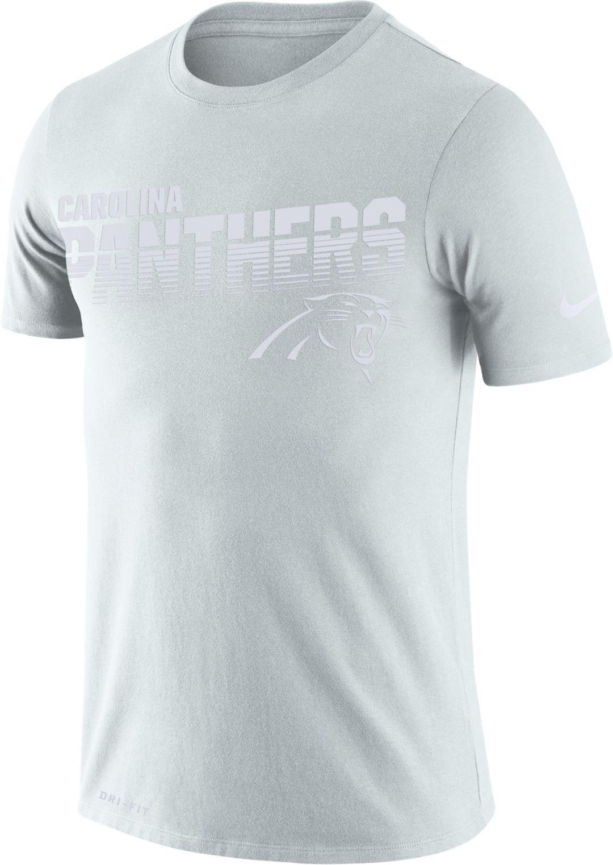the latest 37f23 92a2d Nike Men's Carolina Panthers 100th Sideline Legend Performance White T-Shirt