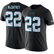 Nike Men's Carolina Panthers Christian McCaffrey #22 Logo Black T-Shirt