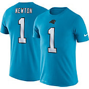 Nike Men's Carolina Panthers Cam Newton #1 Logo Blue T-Shirt