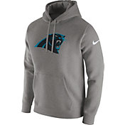 Nike Men's Carolina Panthers Logo Club Grey Hoodie