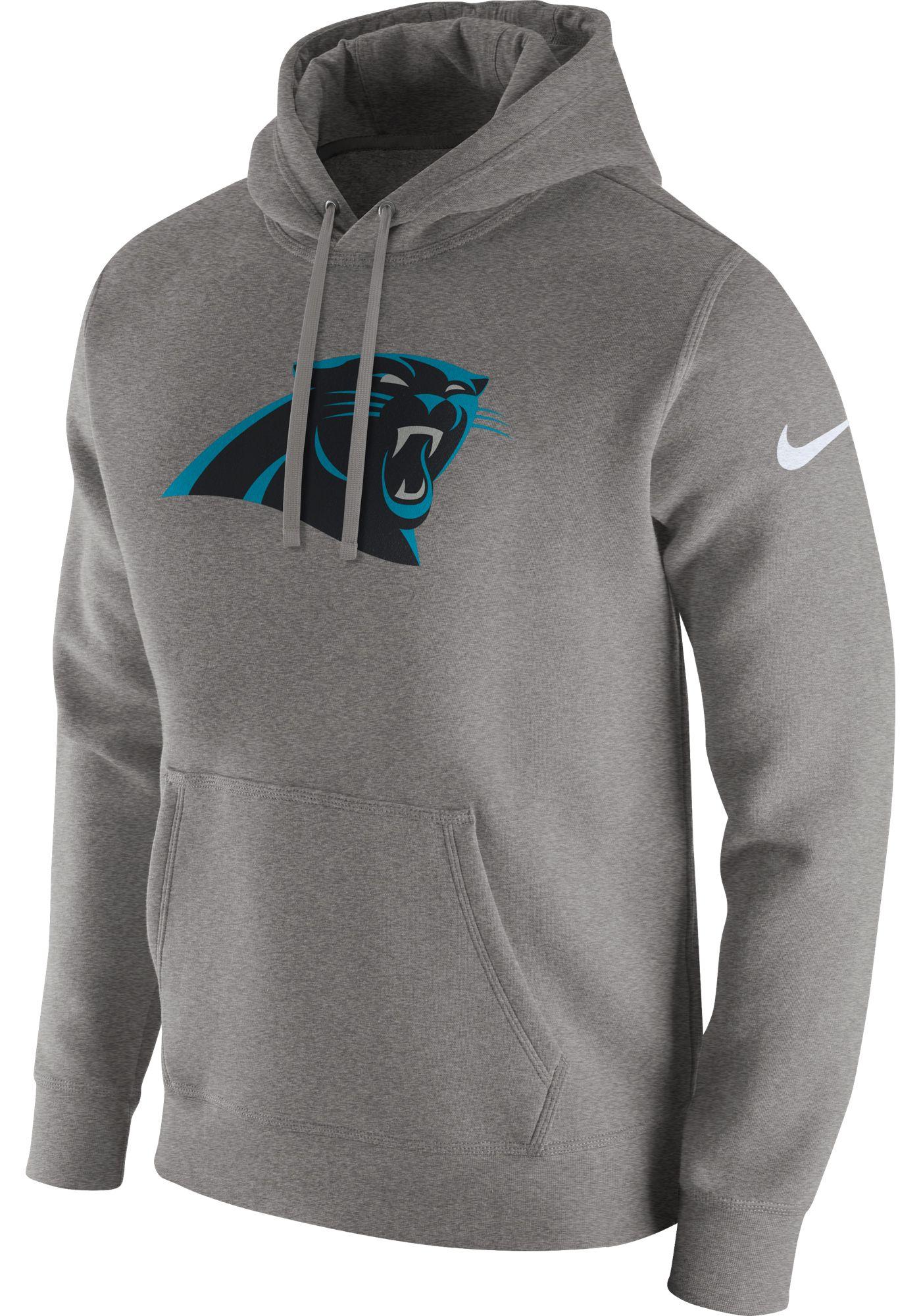 Nike Men's Carolina Panthers Logo Club Grey Hoodie