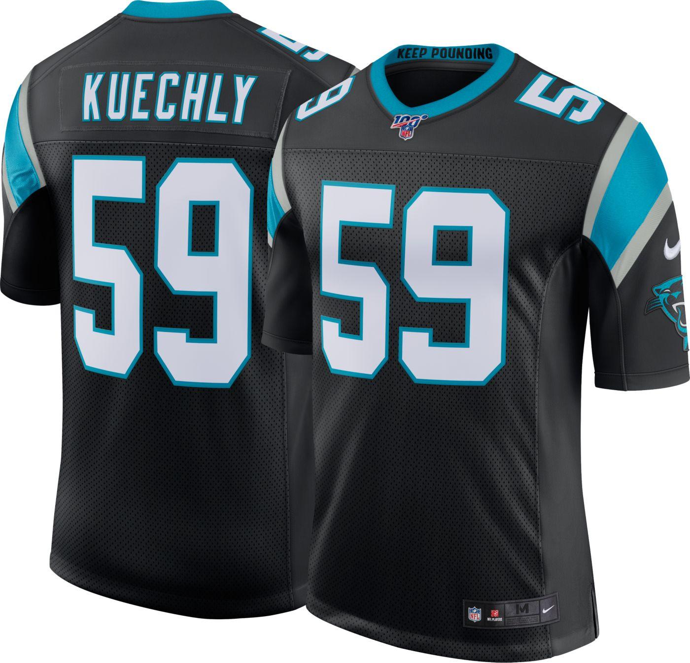 Nike Men's 100th Home Limited Jersey Carolina Panthers Luke Kuechly #59