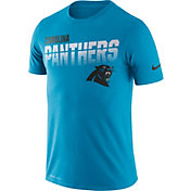 Nike Men's Carolina Panthers Sideline Legend Performance Blue T-Shirt