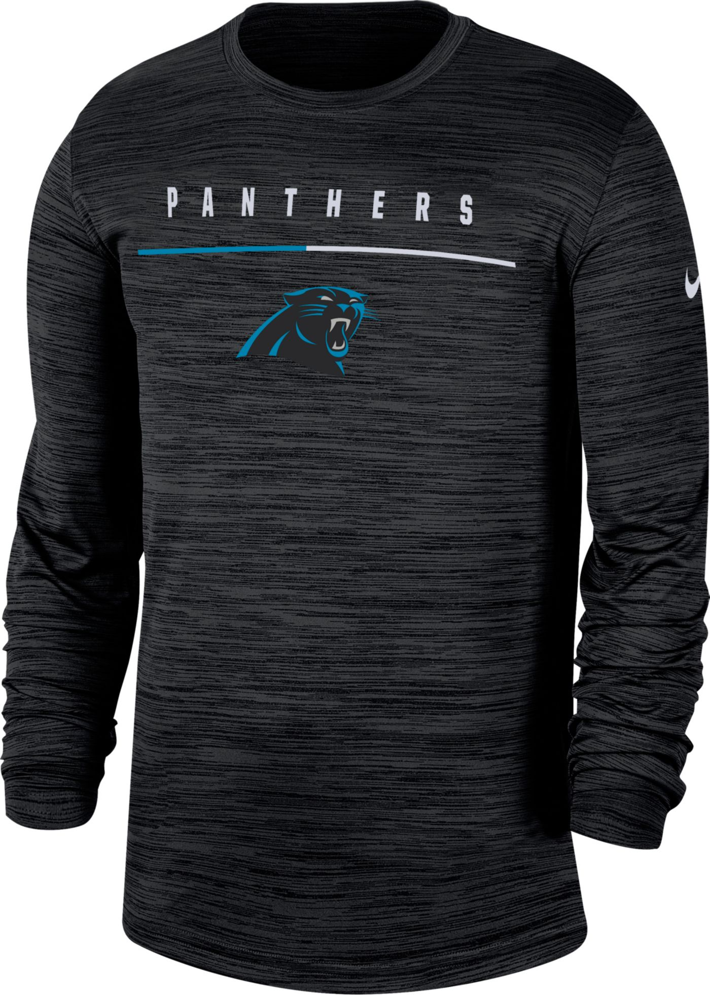Nike Men's Carolina Panthers Sideline Legend Velocity Black Long Sleeve Shirt