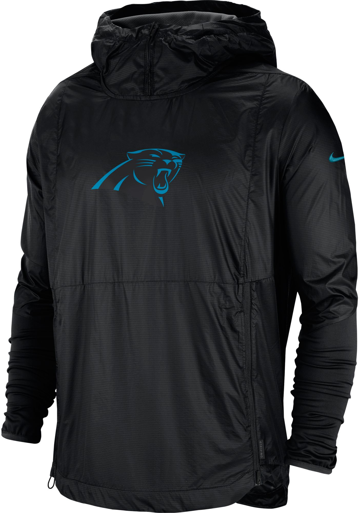 Nike Men's Carolina Panthers Sideline Repel Player Black Jacket