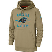 Nike Men's Salute to Service Carolina Panthers Therma-FIT Beige Camo Hoodie