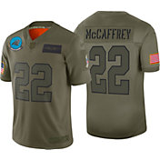 Nike Men's Salute to Service Carolina Panthers Christian McCaffrey #22 Olive Limited Jersey