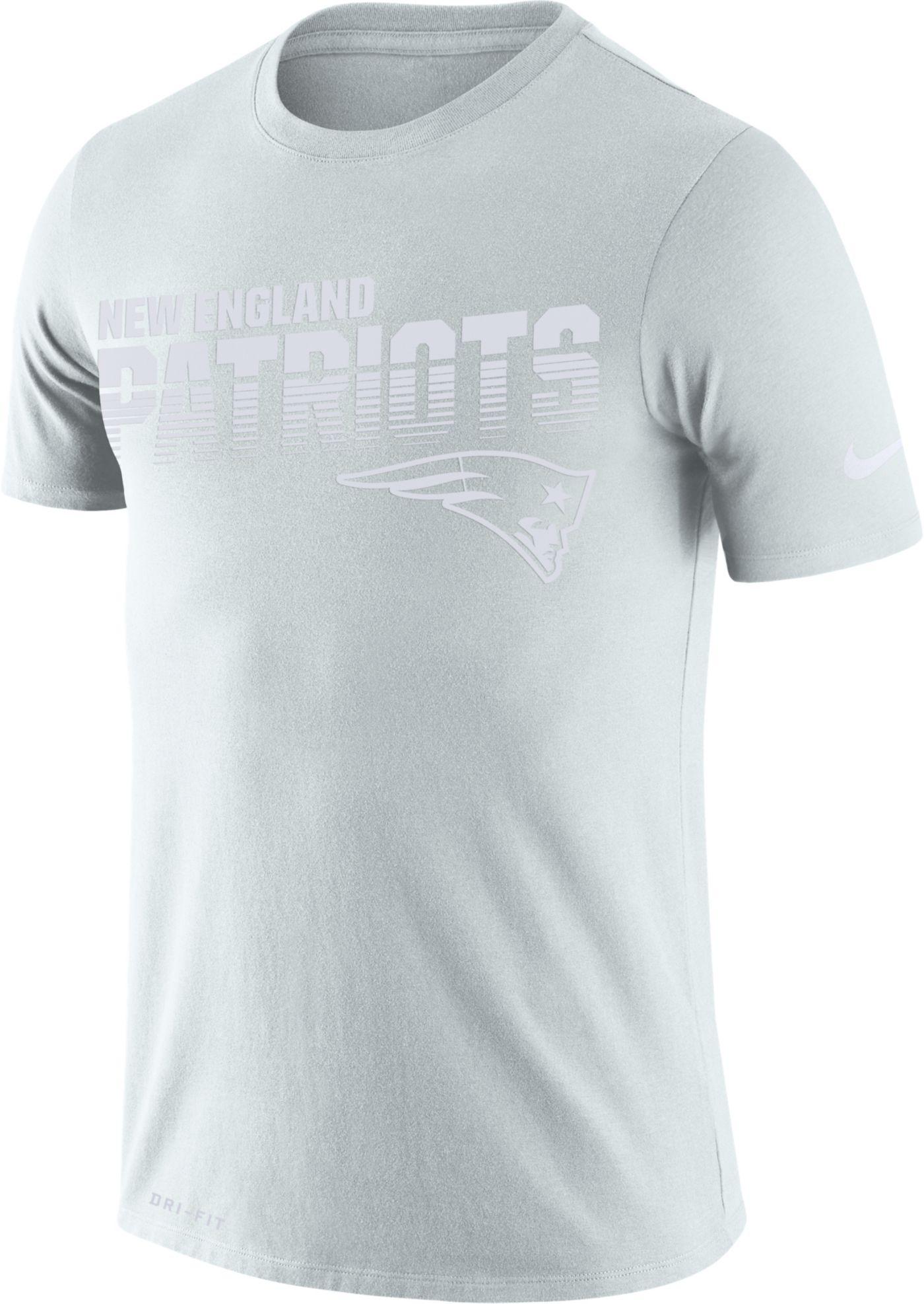 Nike Men's New England Patriots 100th Sideline Legend Performance White T-Shirt
