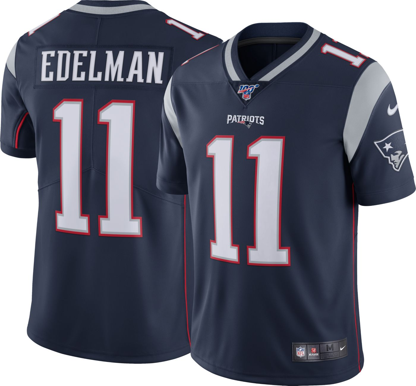 Nike Men's 100th Home Limited Jersey New England Patriots Julian Edelman #11