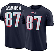 Nike Men's New England Patriots Rob Gronkowski #87 Logo Navy T-Shirt