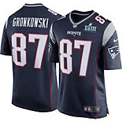 Nike Men's Super Bowl LIII Bound New England Patriots Rob Gronkowski #87 Game Jersey