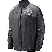 Nike Men's Super Bowl LIII Bound New England Patriots Media Day Bomber Jacket