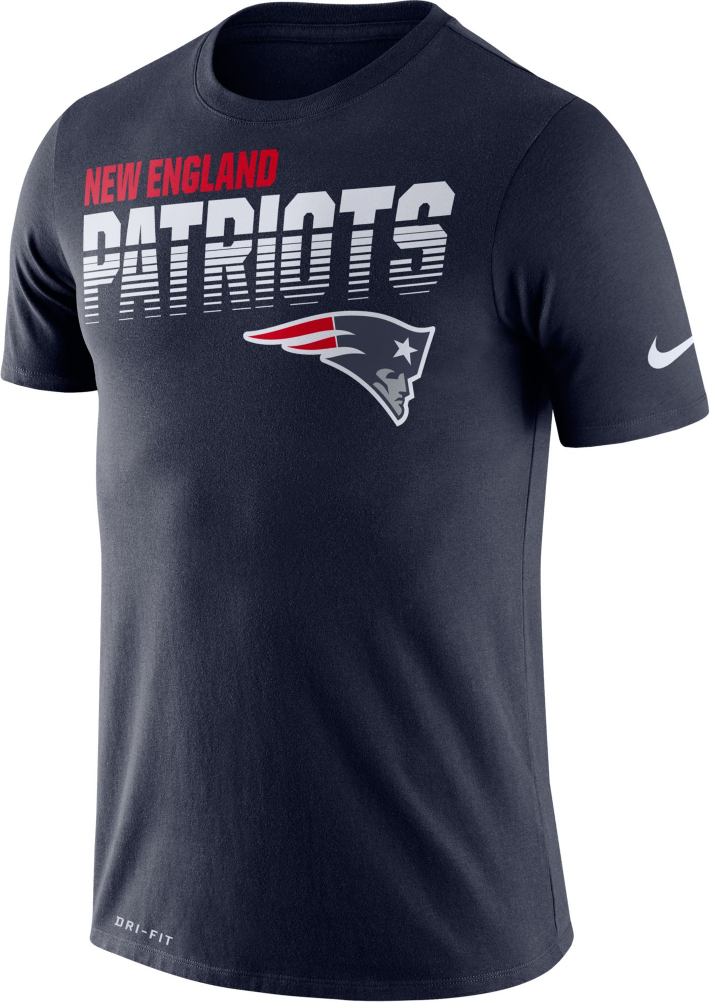 Nike Men's New England Patriots Sideline Legend Performance Navy T-Shirt