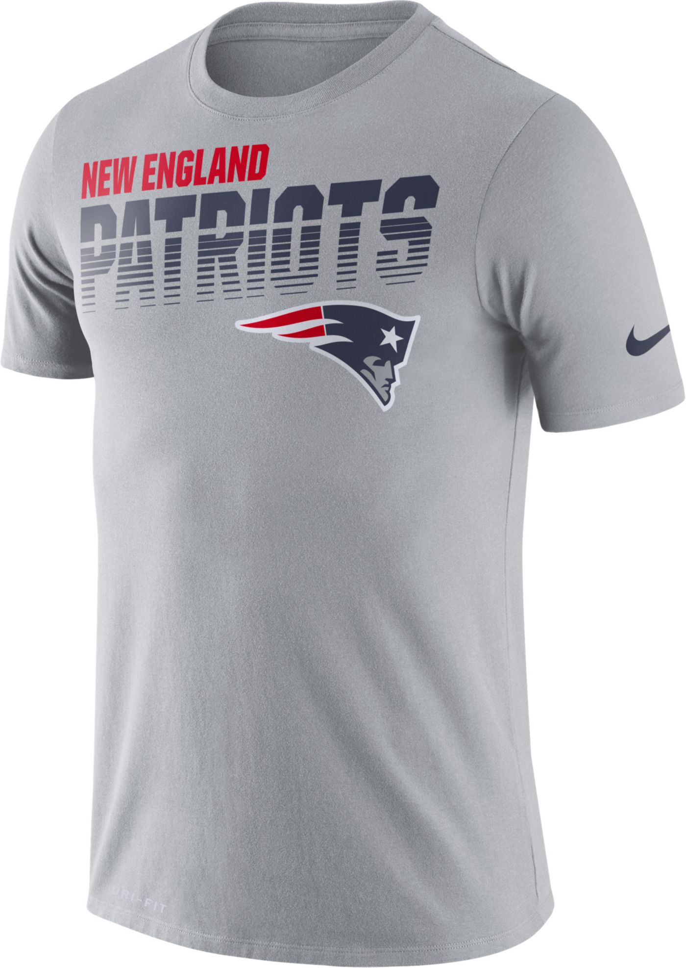 Nike Men's New England Patriots Sideline Legend Performance Grey T-Shirt
