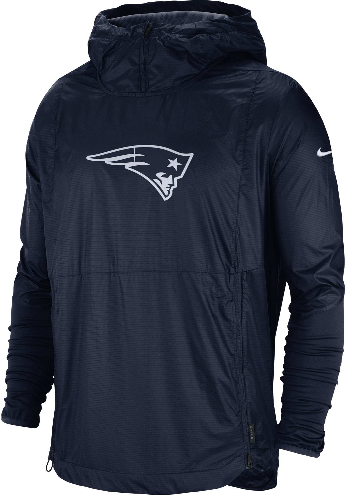 Nike Men's New England Patriots Sideline Repel Player Navy Jacket