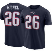 Nike Men's New England Patriots Sony Michel #26 Logo Navy T-Shirt