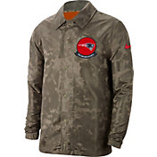 Nike Men's Salute to Service New England Patriots Olive Lightweight Camo Jacket
