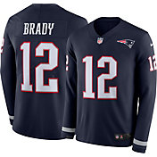 Nike Men's New England Patriots Tom Brady #12 Therma-FIT Long Sleeve Jersey