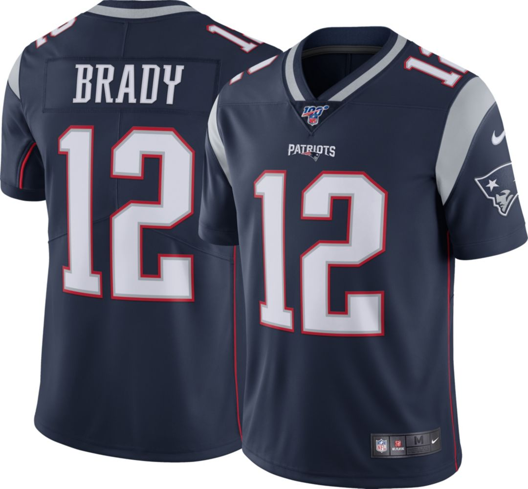 promo code b787f fc357 Nike Men's 100th Home Limited Jersey New England Patriots Tom Brady #12