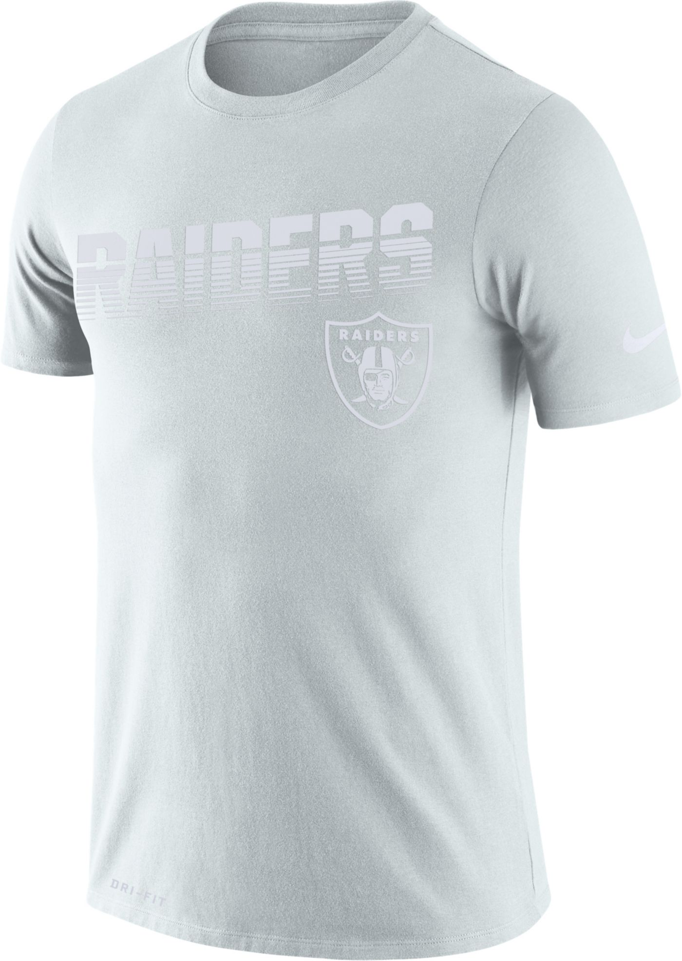 Nike Men's Oakland Raiders 100th Sideline Legend Performance White T-Shirt