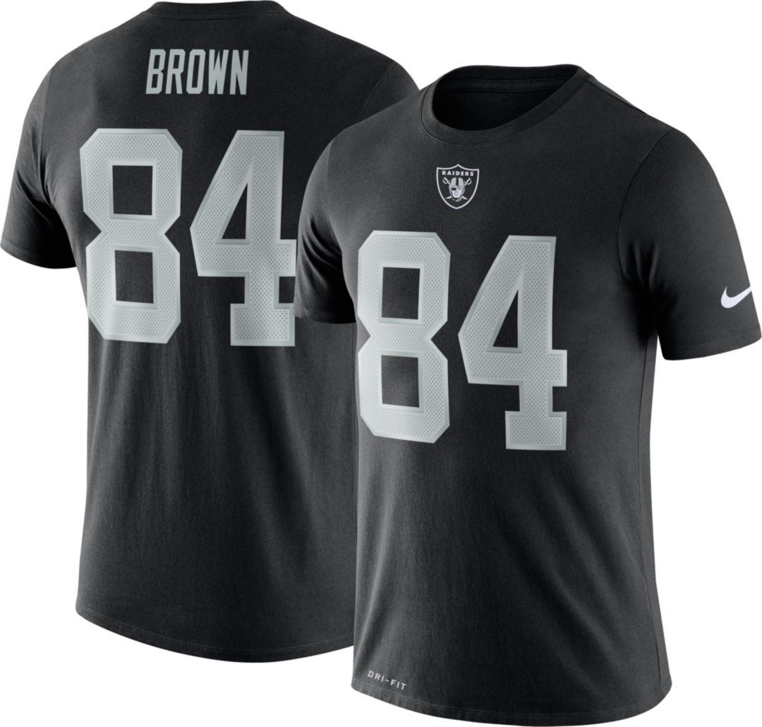 check out d6900 890a6 Nike Men's Oakland Raiders Antonio Brown #84 Logo ...