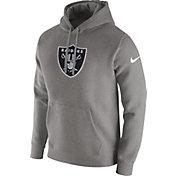 Nike Men's Oakland Raiders Logo Club Grey Hoodie