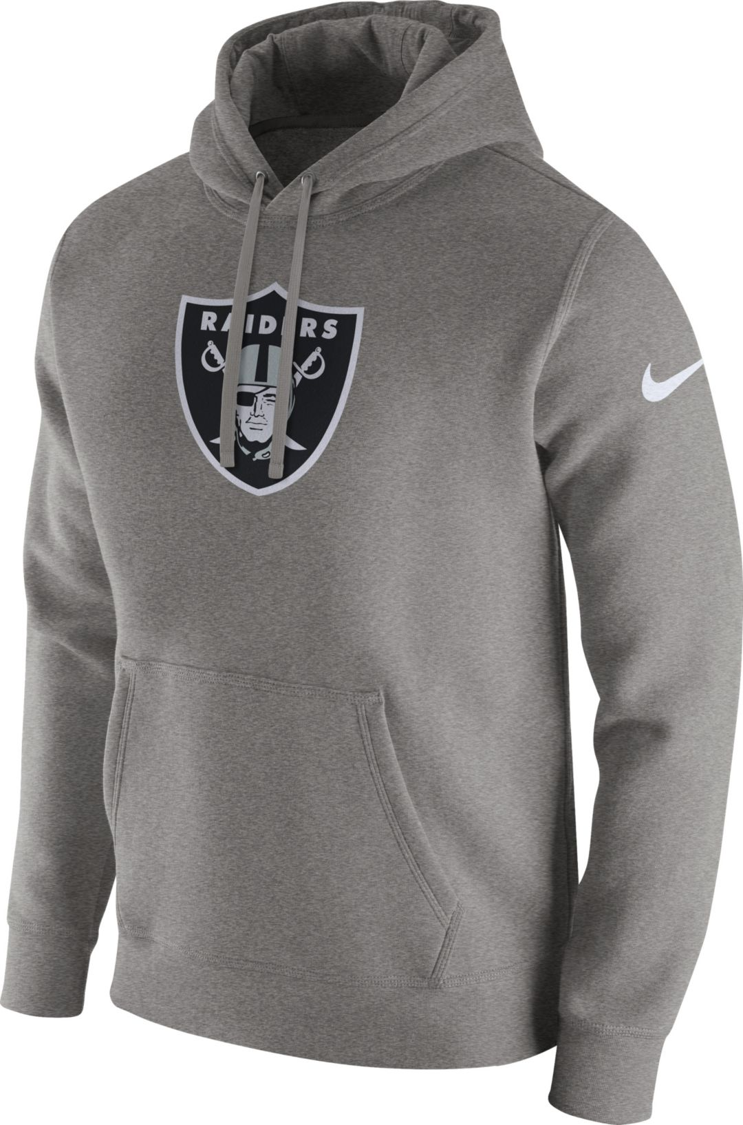 buy popular bcd3b d5a55 Nike Men's Oakland Raiders Logo Club Grey Hoodie