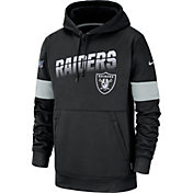 Nike Men's Oakland Raiders 100th Sideline Therma-FIT Black Pullover Hoodie