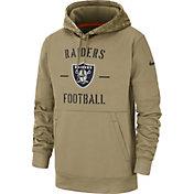 Nike Men's Salute to Service Las Vegas Raiders Therma-FIT Beige Camo Hoodie
