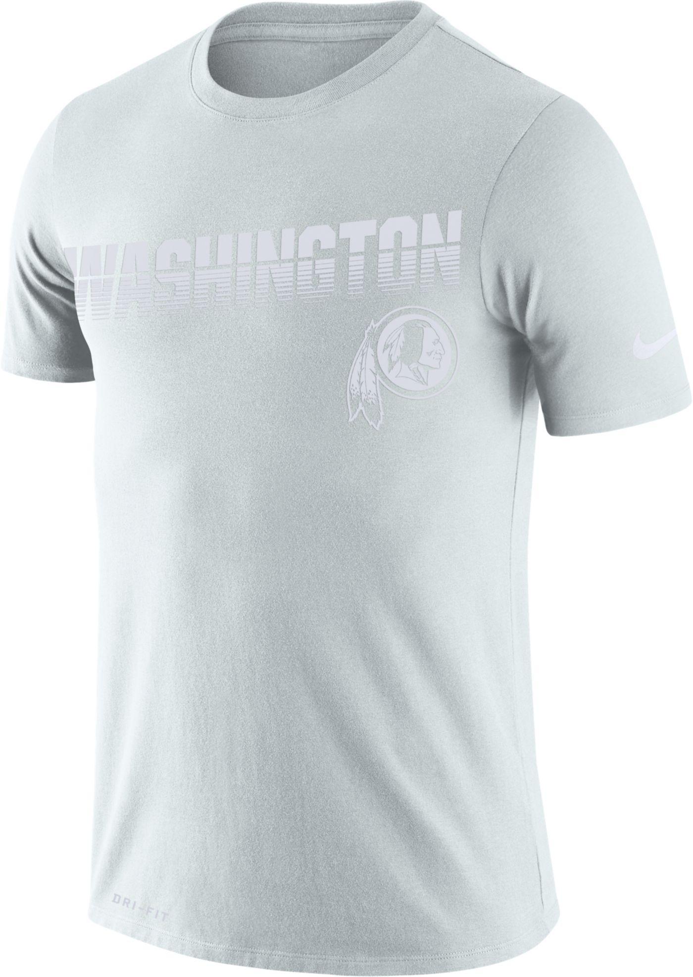 Nike Men's Washington Redskins 100th Sideline Legend Performance White T-Shirt