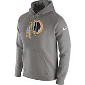 Nike Men's Washington Redskins Logo Club Grey Hoodie
