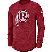 Nike Men's Washington Redskins Marled Historic Performance Red Long Sleeve Shirt