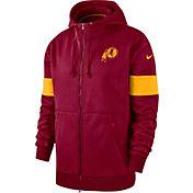 Nike Men's Washington Redskins Sideline Therma-FIT Red Full-Zip Hoodie