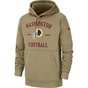 Nike Men's Salute to Service Washington Redskins Therma-FIT Beige Camo Hoodie