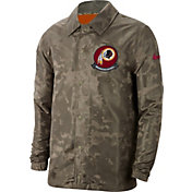 Nike Men's Salute to Service Washington Redskins Olive Lightweight Camo Jacket