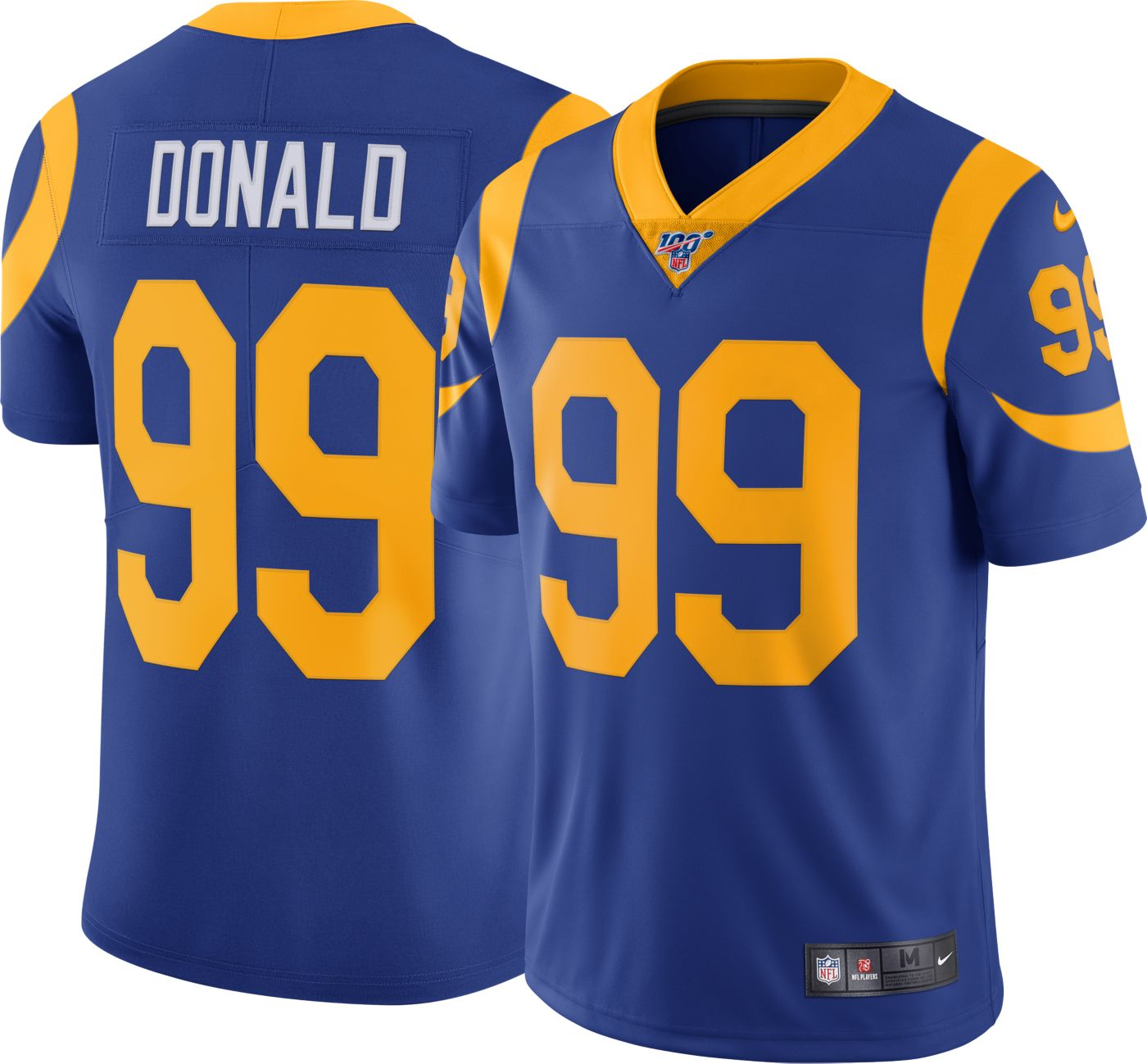 Nike Men's 100th Home Limited Jersey Los Angeles Rams Aaron Donald #99