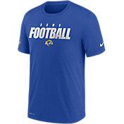 Nike Men's Los Angeles Rams Sideline Dri-FIT Cotton Football All Royal T-Shirt