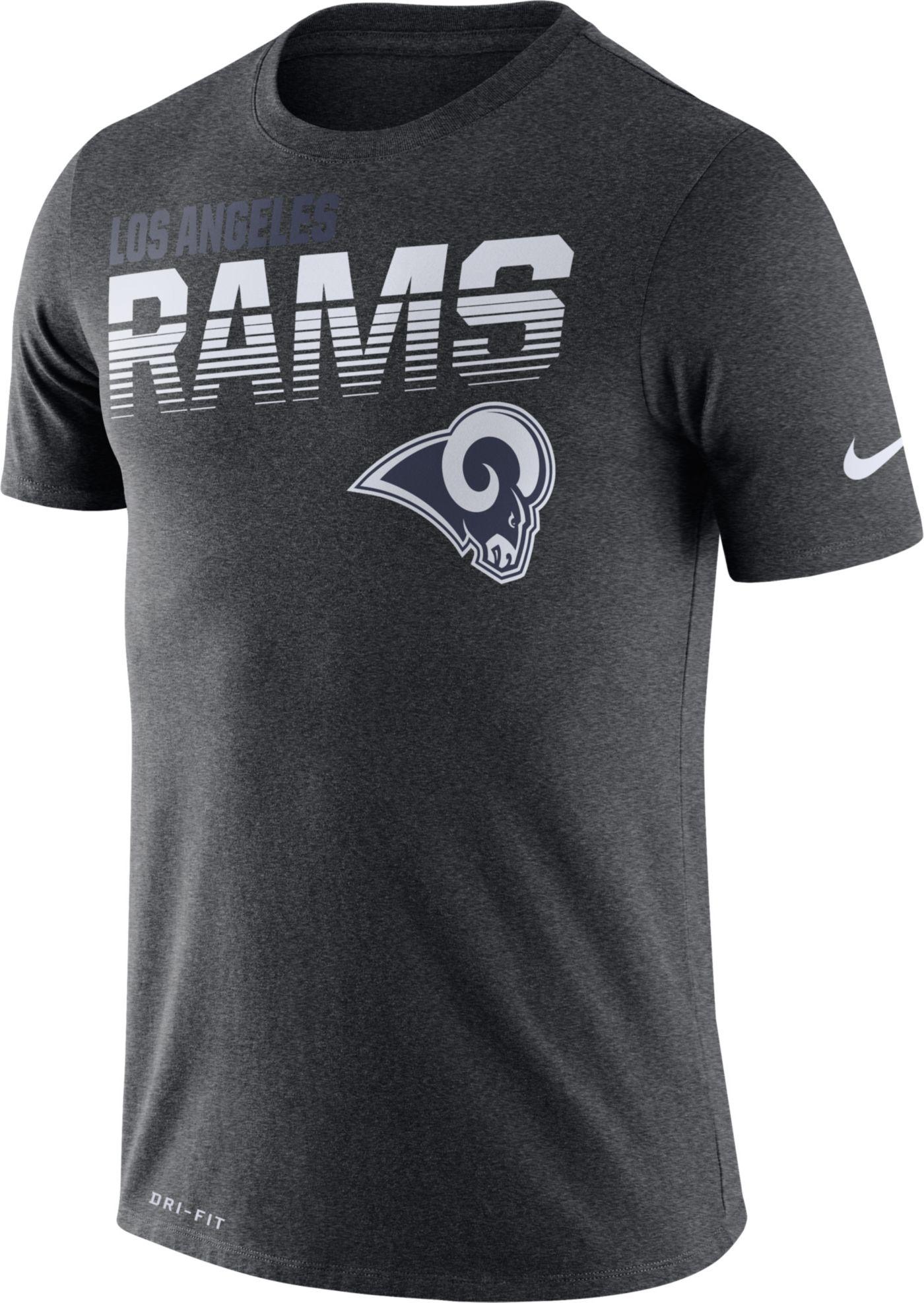 Nike Men's Los Angeles Rams Sideline Legend Performance Charcoal T-Shirt